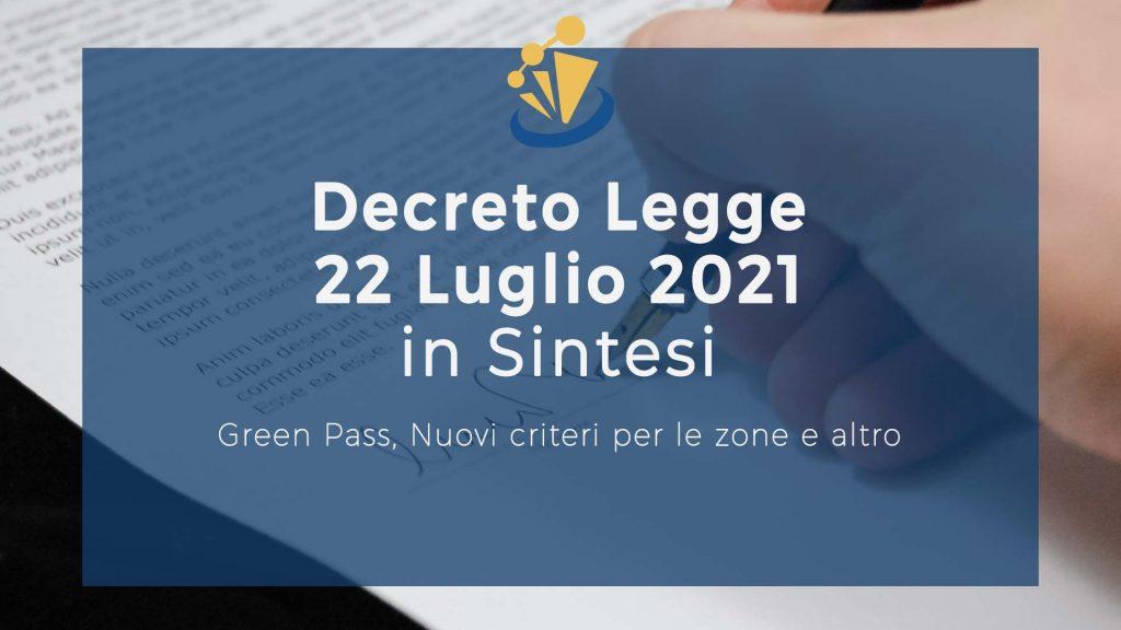 Decreto Legge 22 Luglio